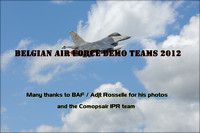 BELGIAN AIR FORCE DEMO TEAMS 2012